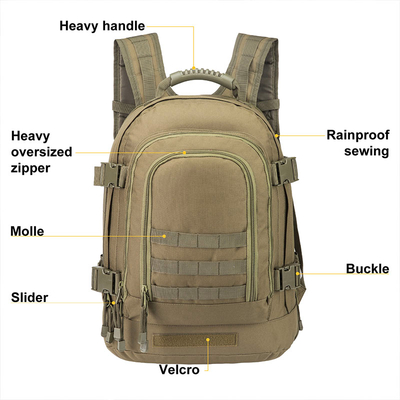 39-64 L Outdoor 3 Day Expandable Tactical Backpack Military Sport Camping Hiking Trekking Bag